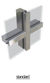 pr50-1 curtainwall Aluminium Windows and Doors